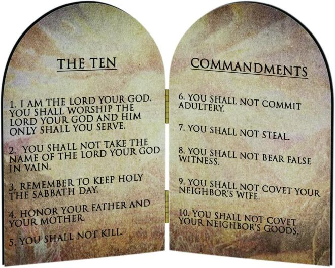 Ten Commandments - Roman Catholic - 1